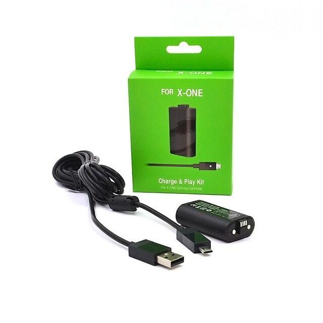1x1400mAh batterie Rechargeable + câble de charge USB pour XBOX ONE contrôleur de jeu sans fil Gamepad Batteries de remplacement