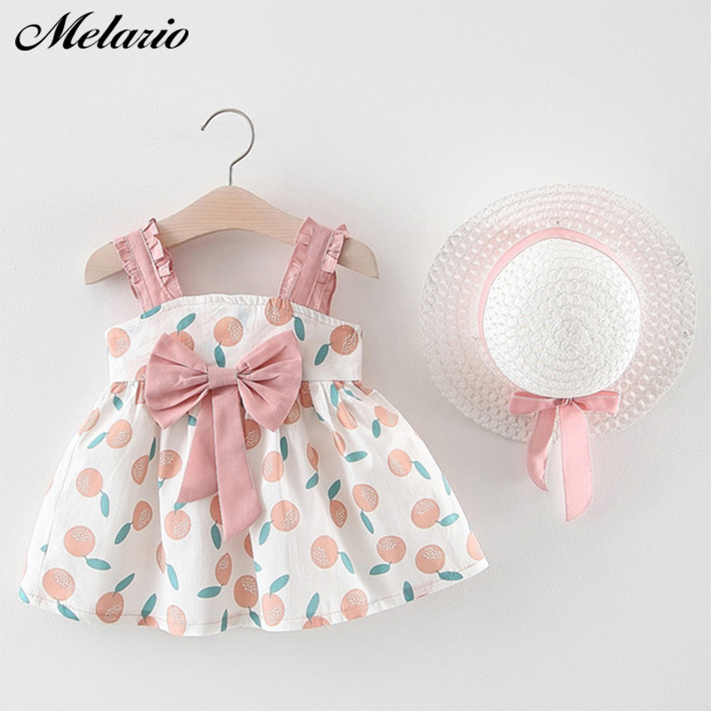Melario toddler girls summer clothes 2020 baby girl clothing set outfit baby boho style summer beach outfit clothe tops + pants + hat