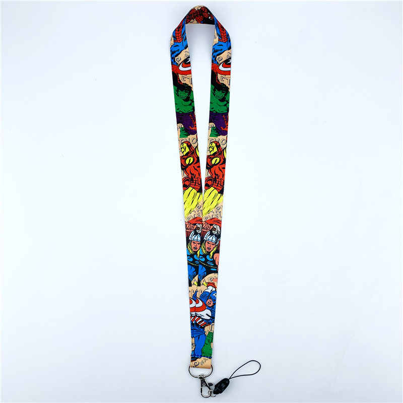 Комиксы супергерой серия шейный ремешок милый мобильный телефон камера ID значок держатель ткань Лариат брелок с подвесками N02072