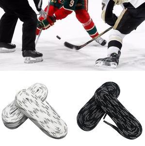 1 пара 96/108/120 дюймов Вощеные водонепроницаемые шнурки для обуви для хоккея на роликовых коньках дизайн наконечника костюм для хоккея на конь...
