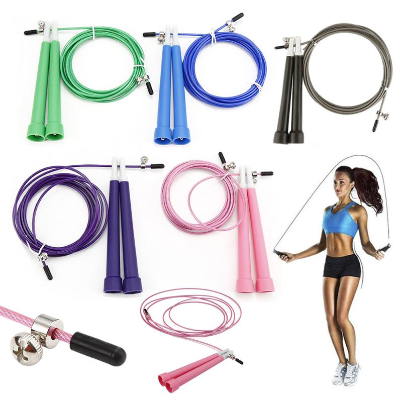 Professional Skipping Rope 5 Colors Fitness Jump Rope Ultra-speed Crossfit Rope Steel Jumping Rope For Boxing MMA Training Equip(China)