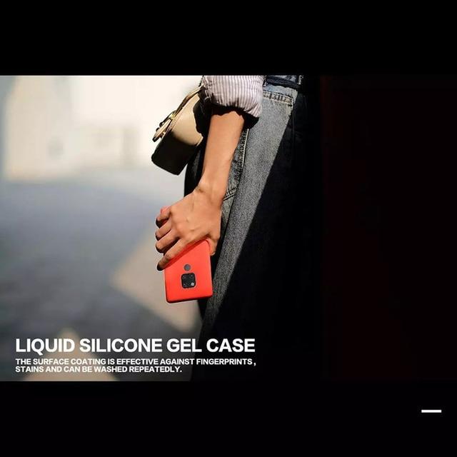 Original Liquid Silicone Phone Case For Huawei P30 P20 P40 Mate 30 20 Honor 20 Lite Pro P Smart 2019 Luxury Soft Protector Cover 3