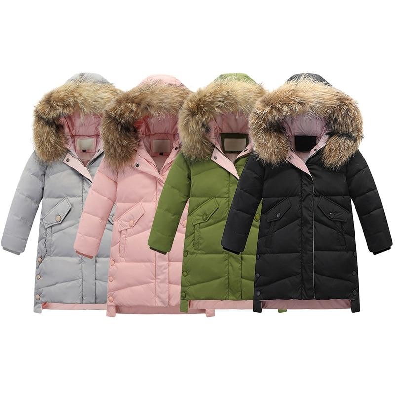 Big Girls Warm Down Coat Puffer Jacket Winter Parka Thickening Overcoat Hooded Outwear