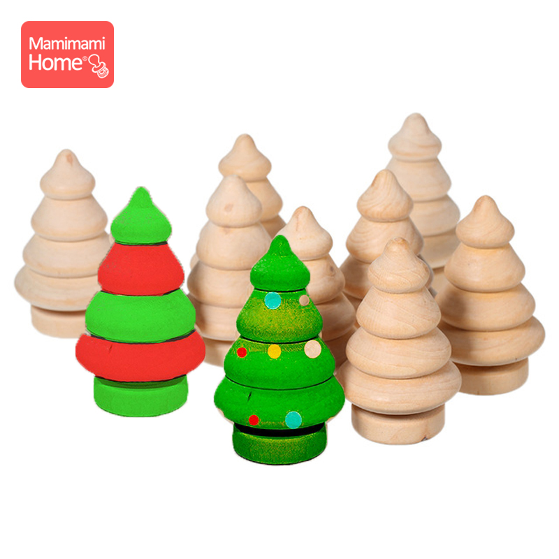 20PCS/Lot Wooden Peg Doll Toys Christmas Tree Pine Cones Wooden Blank Rodent Handmade Diy Girls Toys Children'S Goods Nurse Gift