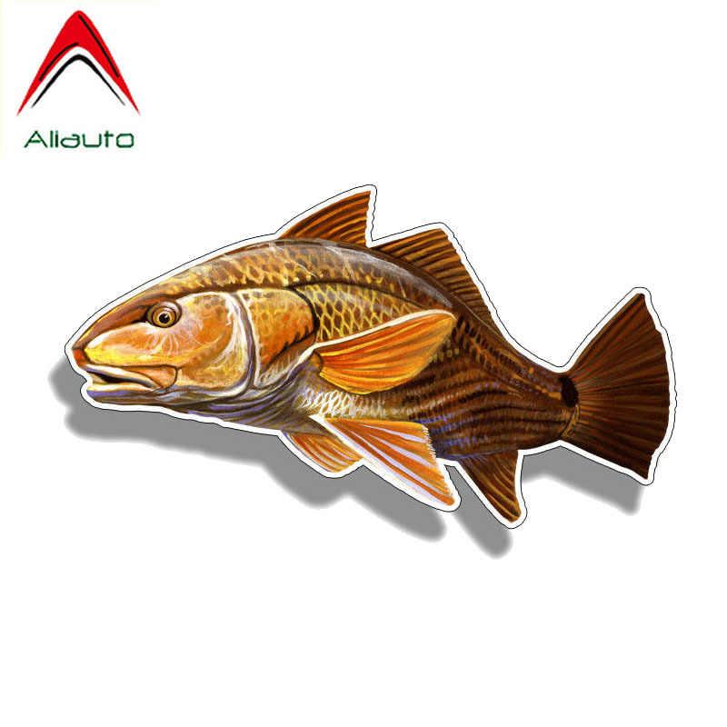 Aliauto 反射車のステッカーおかしい赤魚クリエイティブ装飾デカール pvc オートバイホンダ、日産、スズキ、プジョー、 16 センチメートル * 8 センチメートル
