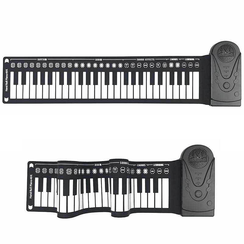 49 Key Portable Flexible Roll Piano Electronic Keyboard Thick Digital Bluetooth APP connection  Built-in Speak Adult/Kid Toys