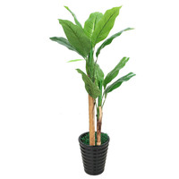Fake fortune tree large banana tree artificial plants home decoration bonsai plastic flowers artificial plants with pot