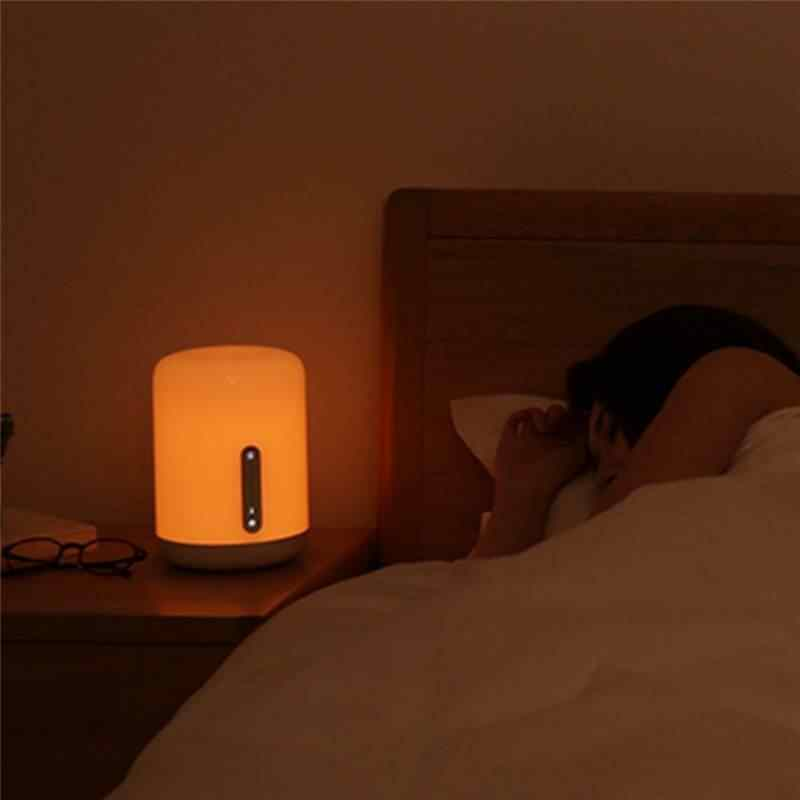 MJCTD02YL צבעוני המיטה אור שולחן מנורת 2 bluetooth WiFi מגע APP בקרת HomeKit Siri לילה שולחן LED אורות