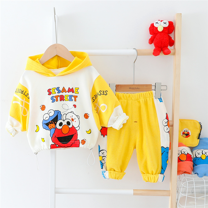 HYLKIDHUOSE Toddler Inafnt Spring Clothing Sets 2020 Baby Girls Boys Clothes Hooded Cartoon T Shirt Pants Children Clothing