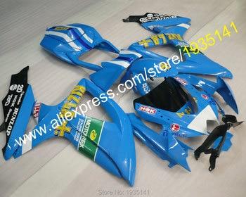 For Suzuki GSX-R600 K8 GSX-R750 2008 2009 2010 GSXR600 GSXR750 08 09 10 Light Blue Aftermarket Fairing (Injection molding)