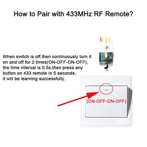 Image 3 - EweLink Dây Đơn Wifi Module 2 Cách Hỗ Trợ RF433Mhz Không Trung Lập Dây Yêu Cầu Làm Việc Với Alexa Và Google Home 220 240V