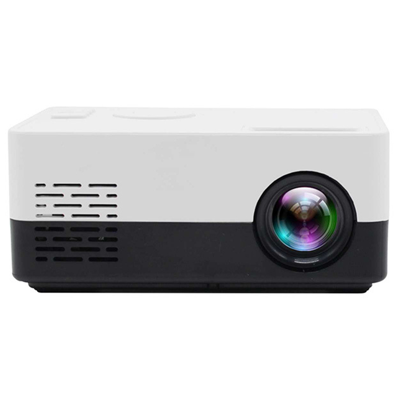 J15 1080P HD Projector Mini LED Projector Handheld Movie Beamer For Video Games Smart Home Theater Media Player US Plug