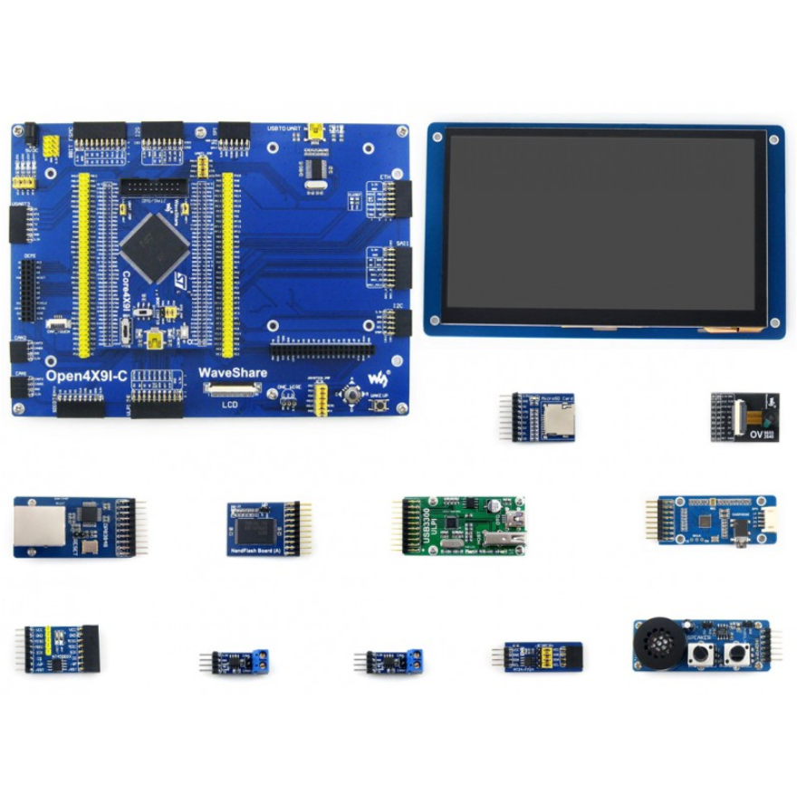 ARM STM32 Board Cortex M4 Open429I-C+7inch Capacitive Touch LCD Display Ethernet Module Camera Micro SD Module Open429I-C Pack B