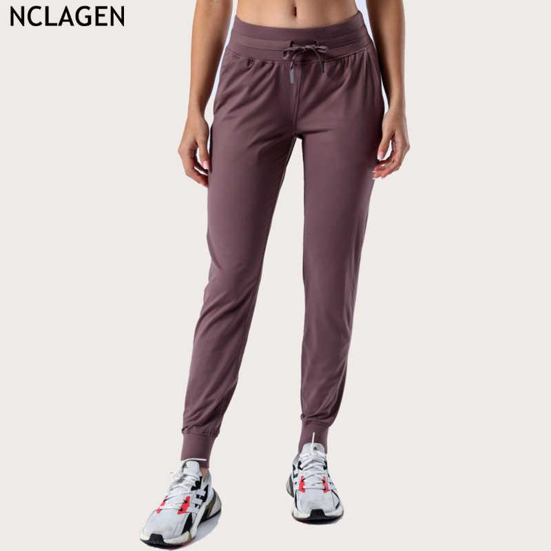 Femme Taille Haute Rayure sur les côtés Stretch Leggings Femmes Fitness Pantalon Gym Pantalon