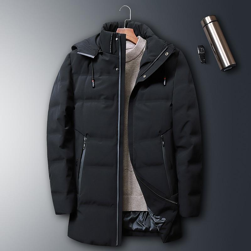 8XL 7XL canard doudoune hommes 2019 nouveau Style moyen longueur ue style élégant beau manteau épais hiver veste A916