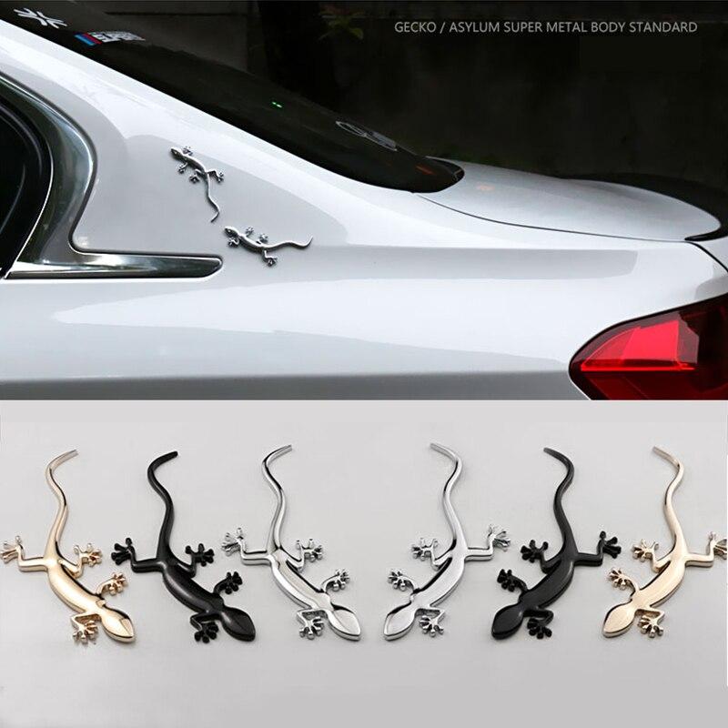 Chrome 3D ABS Silver Lizard Gecko Badge For Audi Quattro A4 A5 TT Q3 Emblem Sticker Car Decal Personality Motor Car Modification