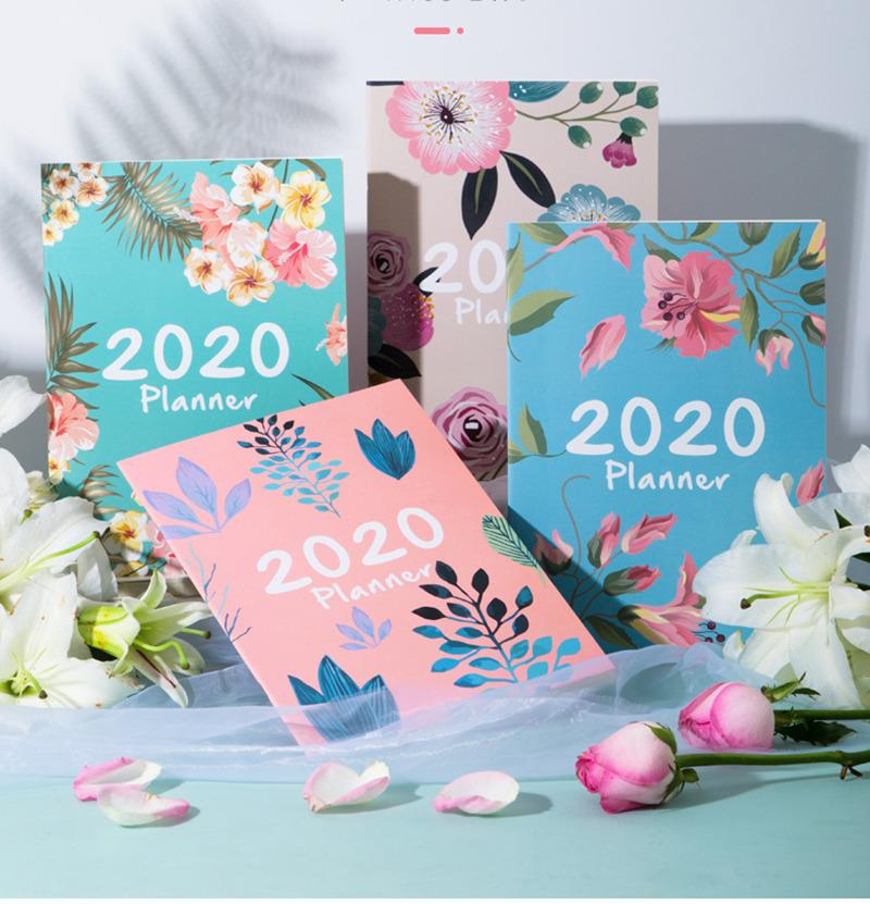 A4 Big 365 Self-filling Kawaii 2020 365 Planner Notebook 12 Month Agenda Chinese Planner Office School Supplies Schedule Book