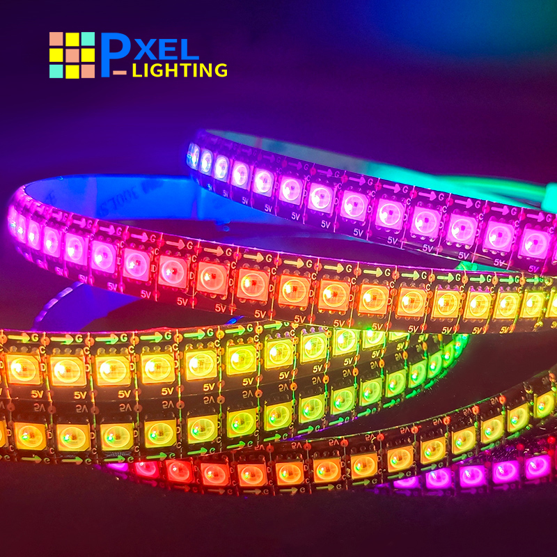 SK9822 RGB Led Strip Light Similar APA102 1m 3m 5m 30 60 144 LED DATA and CLOCK Separately Individually Addressable DC5V room
