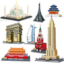 Famous World's Architecture City Model Building Kit House Building Model Building Blocks Sets Toys for Children Gifts
