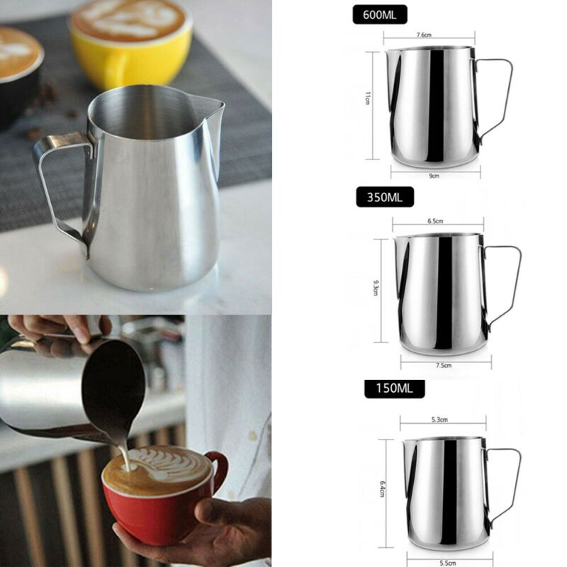 Stainless Steel Milk Frother Jugs Espresso Coffee Mugs Barista Tools Cappuccino Cups Craft Latte Pot Kitchen Accessories