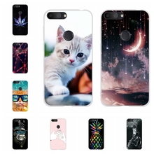 For Alcatel 1S Protective Case Ultra-thin Soft TPU Silicone Cover Scenery Patterned Coque Capa