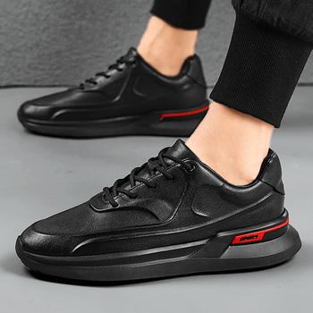 Męskie obuwie skórzane formalne męskie buty wygodne oddychające buty do chodzenia lekkie buty tenisowe męskie buty do jazdy samochodem tanie i dobre opinie OLOMLB Polka dot Szpiczasty nosek RUBBER Lace-up Pasuje prawda na wymiar weź swój normalny rozmiar Oksfordzie leather shoes dress shoes men shoes
