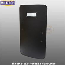 MILITECH 19.7'' x 35.4'' Or 50cm x 90cm Ultra Light Weight UHMWPE NIJ IIIA 3A 0108.01 Shield Bulletproof Ballistic Shield