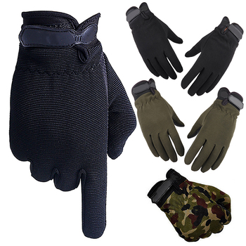 Summer Outdoor Sports Cycling Gloves Men's Non-Slip Silicone Glove Bicycle Windproof Full Finger Gloves For Fishing 1