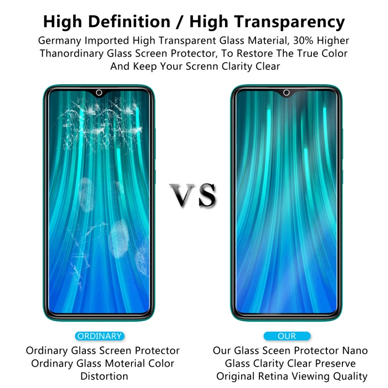 Image 5 - 2 Pcs Tempered Glass For Xiaomi Redmi Note 8 / Note 8 Pro Screen Protector 9H Tempered Glass For Redmi Note 8 Protective Film-in Phone Screen Protectors from Cellphones & Telecommunications