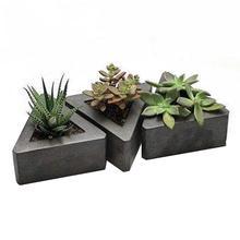 Triangle silicone molds concrete molds flower multi succulen