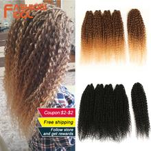 FASHION IDOL Afro Kinky Curly Hair Bundles 5pcs pack 24 inch Ombre Blonde Nature Black Color Synthetic Hair Weave Bundles Fiber cheap Low Temperature Fiber CN(Origin) Machine One Weft 100g(+ -5g) piece 1 Piece Only W-MQ3044P 5PCS 250g 4 pcs pack+1 Crochet Hair