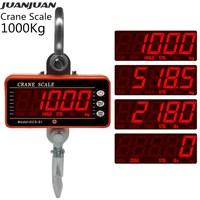 1000Kg 2000LB Crane Scales Industrial Heavy Duty Weighing Balance Digital Hook Scale Hanging Gram Weighting Steelyard 30%