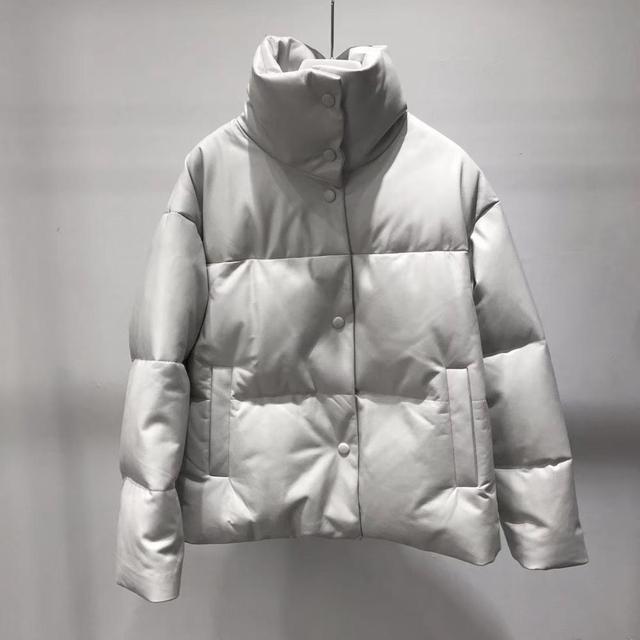 本革ジャケット女性ホワイトダックダウンジャケットコート2020冬厚く暖かいコートとジャケット女性プラスサイズ