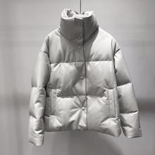Genuine leather jacket women white duck down jackets sheepskin coat 2020 winter thick warm coats and jackets women plus size