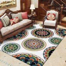 Nordic retro style 3D flower carpet bedroom living room crystal velvet Printed digital crawling mat Non-slip foyer home