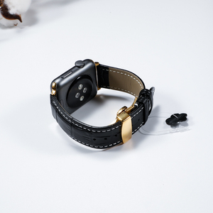 Image 5 - Lederband für Apple uhr 5 4 band 44mm 40mm Schmetterling schnalle iwatch 3 2 strap 42mm 38mm Apple uhr bands Armband