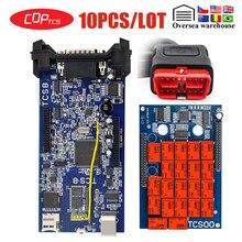 10pcs/lot CDP TCS OBD2 Bluetooth 2016.00 keygen software car Truck Diagnostic tool OBD II scanner Code Readers Scan Tools