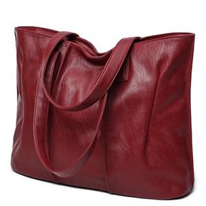 Image 3 - Sac à épaule en PU souple pour dames, sacoche européenne et américaine de bonne qualité de luxe, sacs à main de Shopping grande capacité 2019