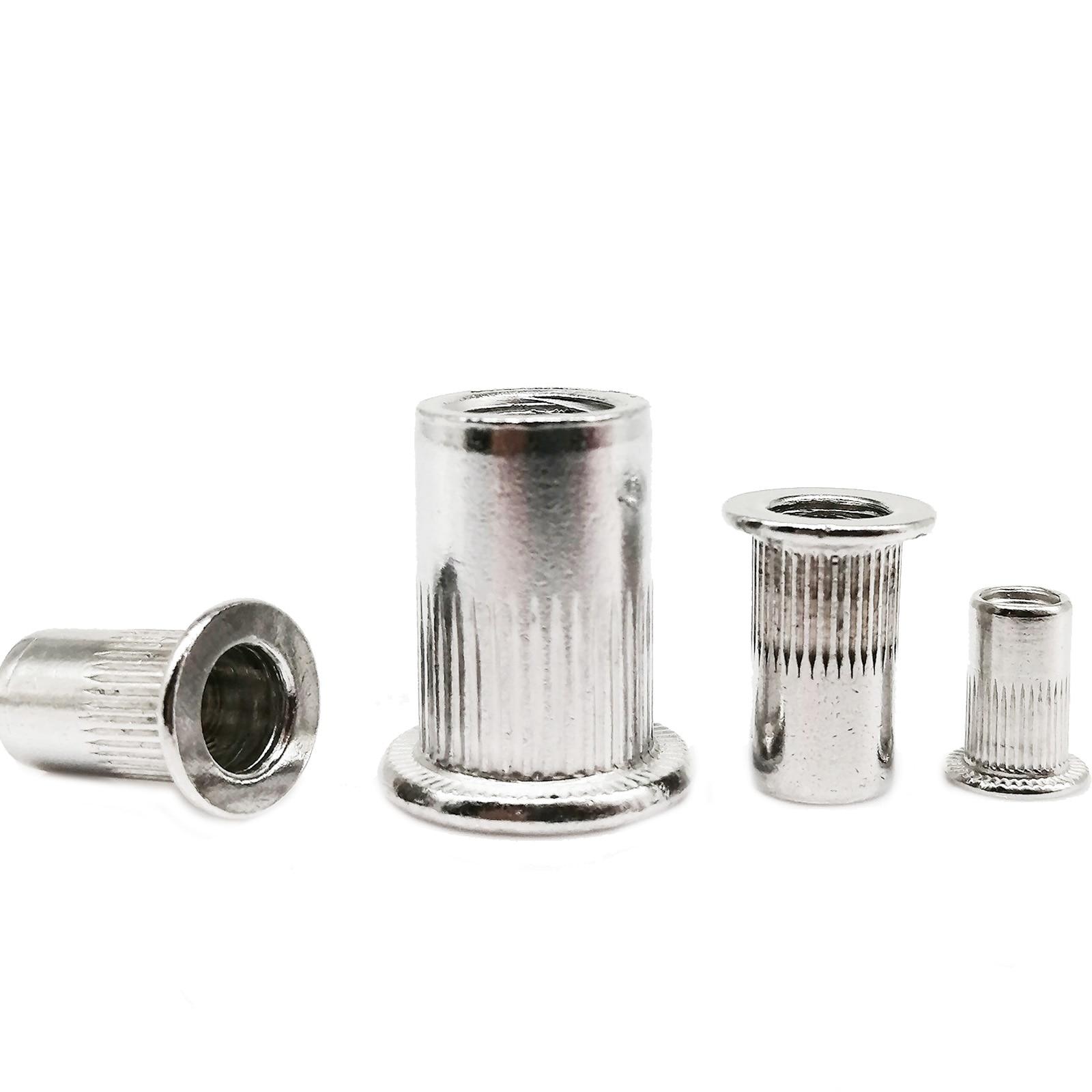 50 Pcs M5x13mm Aluminium Countersunk Head Blind Rivet Nuts Nutserts R6L6