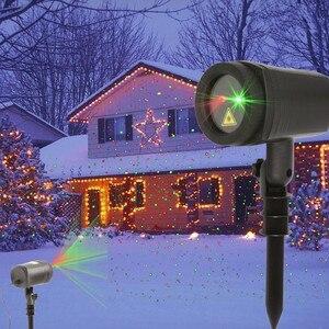Открытый Рождественский звездный свет динамический лазерный проектор для душа красный зеленый Lumiere для нового года