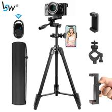 Phone Tripod 55-Inch/140cm with 2 Phone Holders & Remote Control, Lightweight Selfie Tripod for Phone and Camera with Carry Bag