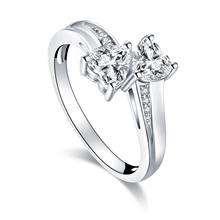 QYI 925 Sterling Silver Rings For Wedding Heart Cut Women Simulated Diamond Engagement Fine Jewelry Gift
