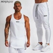 Хлопковые Спортивные Мужские штаны для бега мужские жилеты модные