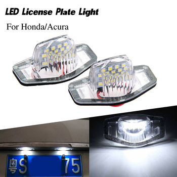 2pcs/lot car number light LED License Plate Lamp for Honda Accord Civic City MK4 for Acura MDX RL TL TSX ILX auto lighting Luces image