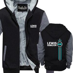 Image 1 - Lewis Hamilton 44 Mens del rivestimento di spessore autunno inverno di marca pullover per uomo cotone uomo top moda uomo top con cappuccio sbz5334