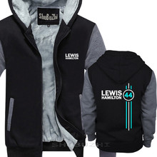 Lewis Hamilton 44 Mens thick jacket winter autumn brand pullover for male cotton man tops man fashion top hoodies sbz5334