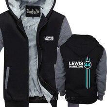 Lewis Hamilton 44 hombre chaqueta gruesa de invierno de otoño marca jersey para hombre de algodón de hombre de moda sudaderas con capucha sbz5334