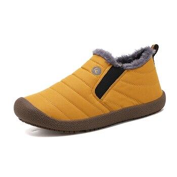 Men Casual Shoes Sneakers Autumn Winter Comfortable Men Shoes Loafers Footwears Slipon Plus Velvet Snow Shoes Men Big Size 36-48 1