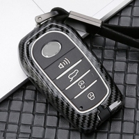 New Car Accessories Smart Keyless Enter Key Case Cover Sleeve For Toyota Land Cruiser Prado Alphard RAV4 Highlander Corolla|Key Case for Car|Automobiles & Motorcycles -