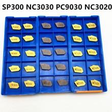 10PCS Slotting Tool SP300 NC3020 NC3030 PC9030 New Slotted Carbide Metal Turning Lathe